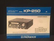 Pioneer Kp-250 Manual -Vintage-