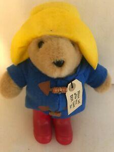 """Paddington Bear Vintage Plush Yellow Hat 10"""" Eden Toys 1988"""