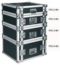 """19"""" 2HE Rack Flightcase 570mm Einbautiefe Endstufenrack Case für Effekte schwarz"""