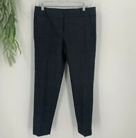Ann Taylor Loft Marisa Dress Pants Womens Size 8 Gray Plaid Ankle Trouser NWT