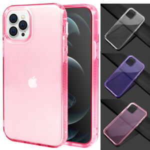 Thin Slim Crystal Transparent Shockproof Case For iPhone 12 Pro Max/Mini/SE/7/8