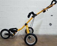 Sun Mountain Speed Cart Collapsible Push Pull Golf 3-Wheel Yellow