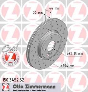 Bremsscheibe MINI WORKS SPORT Coat Z gelocht Zimmermann 150.3452.52