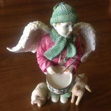 "Angels Among Us Xmas ""Angel boy drummer - DEVOTION "" Figurine by Betty Singer"