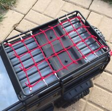 NEW STYLE ...TRAXXAS TRX-4 Roof Rack  Net RED..LAND ROVER DEFENDER