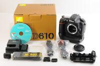 【TOP MINT 18k Shot IN BOX】Nikon D610 24.3MP Digital SLR Camera +BG-2L Grip JAPAN