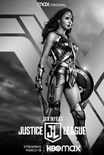 Zach Snyder's Justice League Movie Poster (24x36) - Gal Gadot, Wonder Woman v6
