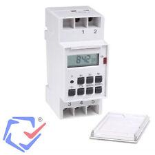 Temporizador digital Programador Interruptor eléctrico DIN 220V Diario y semanal