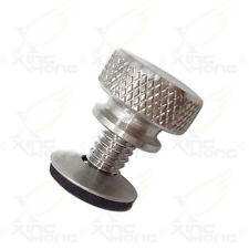 Silver Billet Aluminum knurled shank Bolt for Harley Mounting Seat to Top Fender