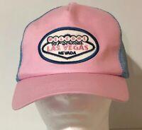 Welcome To Fabulous Las Vegas Nevada Pink & Blue Mesh Baseball Trucker Hat Cap