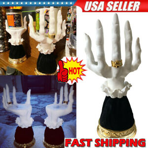 Witch Hand Candlestick Halloween Prop Statue Candle Holder Gothic Ornament PT