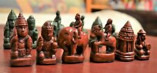 BURMESE STYLE CHESS SET, SITTUYIN, WITH VINYL MAT - ANCIENT GAME OF MYANMAR
