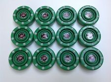 *Sale* 12 New Green Ids Pro Shot Roller Inline Hockey Pucks Fast Shipping!