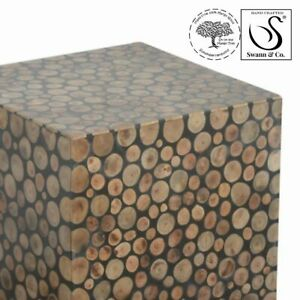 Square Tree Trunk Style Table/stool