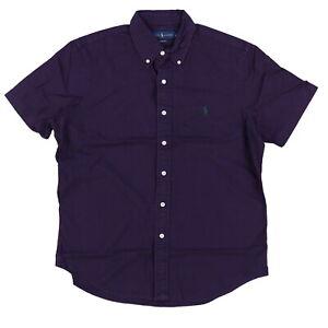 Polo Ralph Lauren Mens Oxford Shirt Buttondown Classic Short Sleeve S M L Xl Xxl