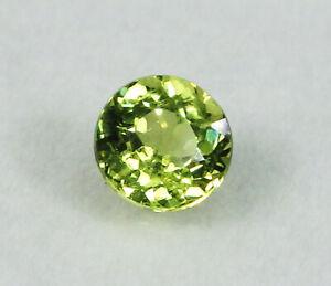 Rare Untreated Natural Grossular Mali Garnet Green Round 1.01 ct