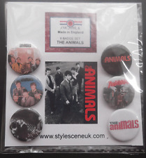 Mod: The Animals band 25mm Button Badge Set