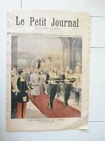 PETIT JOURNAL 1894 RUSSIE OBSEQUES TSAR ALEXANDRE III / REPAS OFFERT AUX PAUVRES