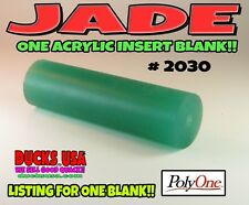 """Jade Acrylic Insert Blanks This is the Real Jade 4"""" x 1.125"""" Solid Blanks"""