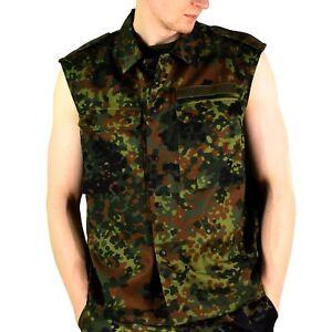Original GERMAN ARMY VEST ZIPPED flecktarn camo tactical combat BW Army issue