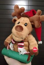 ROCKING REINDEER WHISTLING MOVING PLUSH DOLL CHRISTMAD XMAS ELECTRONIC TOY