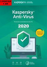 KASPERSKY ANTIVIRUS 2020 3 PCs 1 AN