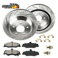 Rear Drill & Slot Brake Rotors And Ceramic Pads For Chevy S-10 GMC Jimmy Sonoma