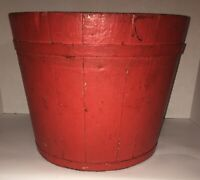 Antique Painted Bucket Paint Decorated Maple Syrup Pail AAFA