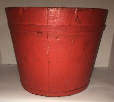 AAFA Early Primitive Painted Bucket Paint Decorated Maple Syrup Pail