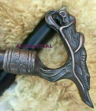 Vintage walking stick Cane Dragon Head Handle Black Wooden Cane Antique Style
