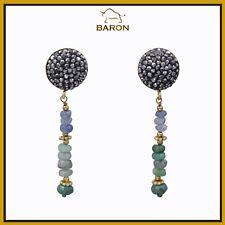 Style Green Stones (9) Chandelier Earrings Dangling Earrings Victorian