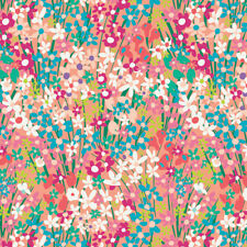 Art Gallery Fabric West Palm Collection, Seaside Garden Coral by the 1/2 yard