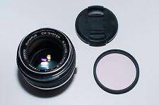 Olympus OM-System G.Zuiko Auto-S 50mm f/1.4 Prime Lens Chrome Nose (#1762)