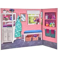 New My Life As Reversible Background 2 sided Bedroom & Pink Bathroom for Dolls!