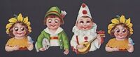 4 antike Oblaten Kinder Kewpie L&B 31938