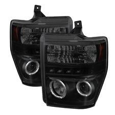 08-10 F250 F350 F450 F550 SuperDuty Black Smoke Halo LED Projector Headlights