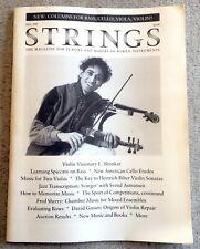 Strings Magazine Fall 1988 L. Shankar Violin Aaron Minsky Cello Etudes Viola