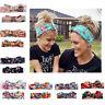 2Pcs Mother & Child Headband Women Baby Kids Girls Bow Hair Band Accessories Set