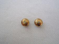 Victorian Art Deco 14k solid gold Round European Diamond cufflinks