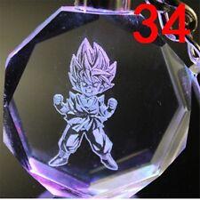 Dragon Ball Z DBZ Anime Keychain Son Gohan Ring Crystal LED Light Keyring New