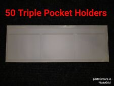 TD3WX50 - [50] WINDSCREEN PLAIN TRIPLE POCKET HOLDER WHITE