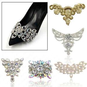 Rhinestone Trim Crystal Chain Beaded Applique Sew Iron On Bridal Shoes DIY Decor