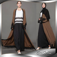 Women Muslim Dress Islamic Abaya Vintage Open Cardigan Maxi Robe Clothing