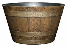 """Classic Home and Garden Whiskey Barrel, 20.5"""", Distressed Oak S1027D-265R"""