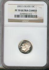2002-S 10C Silver DC (Proof) Roosevelt Dime NGC PF70 ULTRA CAMEO 3290942-012