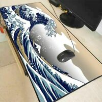 Large Size Wave Off Art Mouse Pad Natural Rubber PC Computer Gaming Mousepad