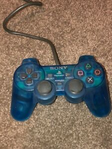 Genuine Blue Sony PlayStation 1 Controller (Sony PS1, Dual-Shock, Aus-Seller)