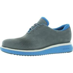 Cole Haan Mens ZEROGRAND Eon Gray Nubuck Oxfords Shoes 7 Medium (D) BHFO 0162