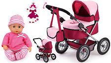 Trendy - Puppenwagen Set mit Funktions-Puppe 13014 + 93300AD von Bayer