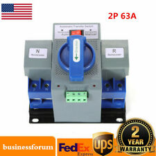 2P 63A Dual Power Automatic Transfer Switch Generator Changeover Switch 110V USA